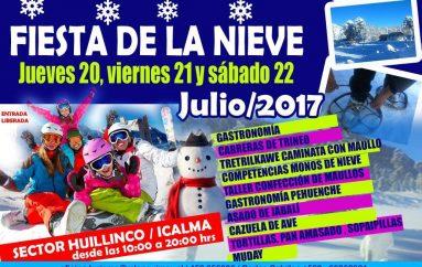 LONQUIMAY CELEBRARÁ PRIMERA FIESTA DE LA NIEVE HUILLINCO- ICALMA