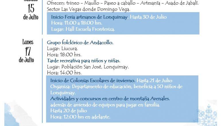 ENTRETENIDOS PANORAMAS PARA LAS VACACIONES DE INVIERNO