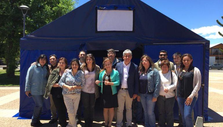 SE INAUGURA CARPA QUE ALBERGARÁ A ARTESANOS EN LONQUIMAY