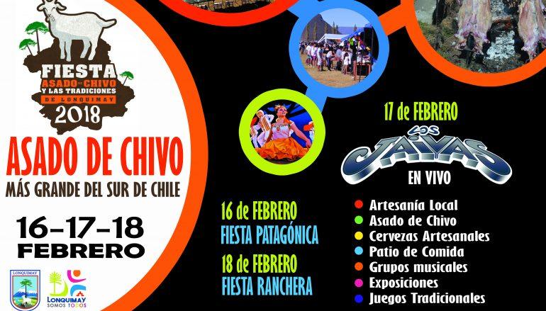 FEBRERO NOS TRAE LA FIESTA DEL ASADO DE CHIVO EN LONQUIMAY