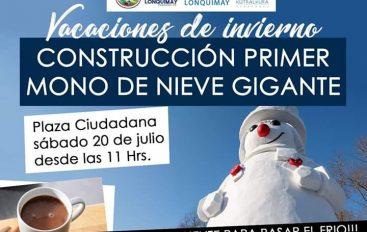 CONSTRUCCIÓN PRIMER MONO DE NIEVE GIGANTE ¡¡¡