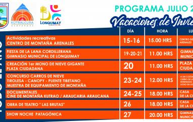 VACACIONES DE INVIERNO – PROGRAMA 2019