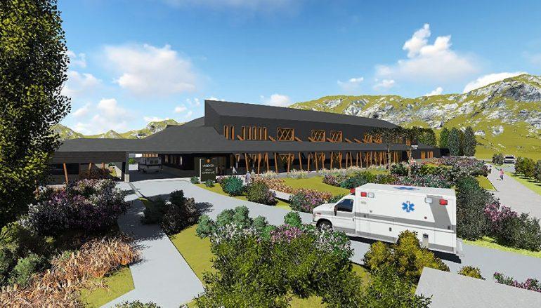 Primera Piedra Hospital de Lonquimay. 7.684 metros cuadrados de construcción y tiene una inversión de 21 mil millones de pesos y 4 mil millones en implementación (01 de julio 2020)