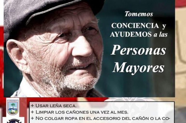 PROGRAMA ADULTO MAYOR DE LA MUNICIPALIDAD DE LONQUIMAY, INVITA A CUIDAR Y AYUDAR ESTE INVIERNO.